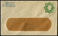 Lot 683:1924-28 1d Green KGV Star With 'POSTAGE' BW #ES43 window envelope for Ford Sherington Ltd (Sydney), internal tear to central window, flap partly stuck down, unused, Cat $200.