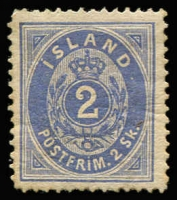 Lot 1155:1873 2sk blue SG #1 mint large-part gum, Cat £1,100.