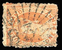 Lot 541:83: (B2) rays large-part strike on 1d Chalon [Rated RRRR].  Allocated to Copperfield-PO 1/10/1866; RO c.1900; closed 31/1/1929; 1 1/15/1946.