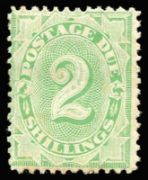 Lot 381 [1 of 2]:1902-04 Design Completed Wmk Crown/NSW 10d P11½-12 & 2/- P11½-12 BW #D35 & #40, 2/- some mild gum tone, mint, Cat $310. (2)