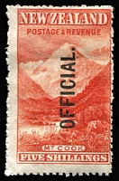 Lot 1619 [1 of 2]:1907-11 Pictorials: optd 'OFFICIAL' ½d to 5/- set SG #O59-67, minor staining 1/-, generally fine mint, Cat £650. (8)