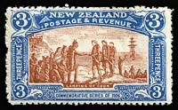 Lot 1610 [2 of 4]:1906 Christchurch Exhibition ½d to 6d set SG #370-73, key 6d value MLH, Cat £275. (4)