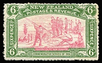 Lot 1610 [1 of 4]:1906 Christchurch Exhibition ½d to 6d set SG #370-73, key 6d value MLH, Cat £275. (4)