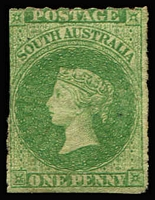 Lot 1122:1860-69 Second Roulettes 1d bright yellow-green SG #19, fine unused, Cat £110.