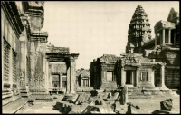 Lot 16002 [2 of 2]:1954 (Dec 29) PPC showing Angkor Wat to Phnom Penh with 1.50p Temple of Angkor x2 tied by fine strikes of Siem Reap Angkor datestamp. Scarce internal use of PPC.
