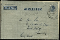 Lot 255 [3 of 5]:1944-65 Group incl 1945-50 7d BW #A3 1952 usage uprated with 3d KGVI, 1952 10d on 7d #A5 used & unused, thereafter reasonably complete and/or used including 1964 Christmas & 1965 Law Conference both with FDI cancels. Generally fine. (37)