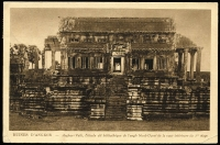 Lot 1429 [2 of 2]:1927 (Feb 4) PPC showing 'Ruines D'Angkor' to USA with 6c tied by fine strike of 'ANGKOR-LES-RUINES/4-2-27/CAMBODGE' datestamp, small edge blemishes.
