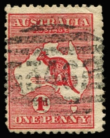 Lot 1131:346: (B2) clearly discernible strike of Bars Type 2a cancel used on 1d Roo, [Rated 3R].  Allocated to Johnstone River-RO 14/5/1880; PO 1/11/1882; renamed Geraldton PO 1/1/1883; renamed Innisfail PO 18/8/1910.
