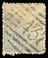 Lot 978:437: (A2) fine strike of Bars Type 2b cancel on 2d Sideface, Rated 3R.  Allocated to Mount Shamrock-PO 7/11/1886; closed c.1920.