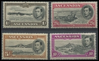 Lot 1378 [3 of 3]:1938-53 KGVI Pictorials ½d to 10/- P13½ set SG #38-47 including 1d Green Mountain & 3d black & ultramarine SG #42, fine mint, Cat £450+. (13)