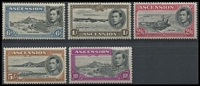 Lot 1379 [2 of 3]:1938-53 KGVI Pictorials ½d to 10/- P13 set including Murray Payne listed 3d & 10/- shades (MP #19a & 25a), fine mint, Cat £180+. (15)