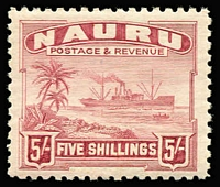 Lot 987 [2 of 3]:1924-48 Ships Shiny Paper ½d to 10/- set SG #26B-39B, 2/6d & 5/- tropicalised gum, fine MUH overall, Cat £200. (14)