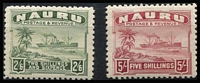Lot 1299 [2 of 3]:1924-48 Ships Shiny Paper ½d to 10/- set SG #26B-39B including ½d P14, few including 2/6d with mild gum tropicalisation, fine mint overall, Cat £200. (15)