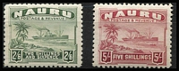 Lot 1299 [3 of 3]:1924-48 Ships Shiny Paper ½d to 10/- set SG #26B-39B including ½d P14, few including 2/6d with mild gum tropicalisation, fine mint overall, Cat £200. (15)