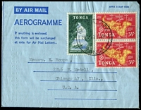 Lot 2330 [3 of 6]:1950s-1980s Group of Selection with Tongan Postal Administration issues, plus various, mostly New Zealand, formular types with stamps added, comprising pre-decimal x8 and decimal era x11, condition generally fine. Hard to source. (19)