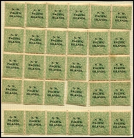 Lot 1030:1918-23 KGV Single Wmk Fifth Setting ½d SG #102 forme of 30 [7L31-60] with ACSC listed varieties SW corner broken & Retouched shading on oval & white flaw on head, perf separations due to aging & folding, a few blemishes, some units are MUH.