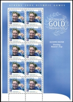Lot 2374 [1 of 2]:Assorted postage in packet, mostly modern issues including 2004 Olympics Gold Medallist sheetlets x30, total face value $550+.