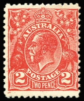 Lot 671:2d Scarlet Postal Forgery BW #103cc, fine mint, Cat $900.