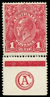 Lot 2052:1d Carmine-Rose Rough Paper (G74) 'CA' Monogram substituted for 'JBC' single BW #72Q(2)ze, fine MLH single, Cat $4,000. Drury Certificate (2010).