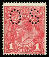 Lot 2048:1d Pale Rose-Red Perf 'OS' Rough Paper (G64) BW #72Ebb, fine fresh MUH, Cat $1,000. Drury Certificate (2011).