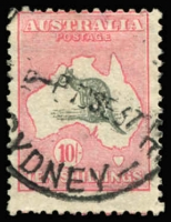 Lot 578 [1 of 2]:5/- & 10/- BW #46&50, 5/- well centred, Sydney datestamps, Cat $300+. (2)