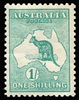 Lot 514:1/- Green BW #30A, well centred, fine mint, Cat $325.