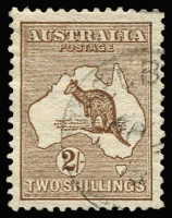 Lot 2007:2/- Brown well-centred with half-strike of Melbourne 'AP2[4]/13