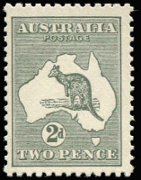 Lot 130 [1 of 2]:2d Grey x2 comprising Die I BW #7, excellent centring, MLH, Cat $40; also Die IIA example BW #8, MUH, Cat $225. (2)