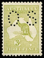 Lot 537:3d Olive Die I Perf 'OS' BW #13b, mild bend, fresh MUH, Cat $475.