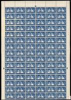 Lot 80 [2 of 3]:South-West Africa & South Africa 1930s-50s sheets, part-sheets or blocks including SWA listed varieties 1947 Royal Visit 2d Bird on '2' x3 in sheets of 120, 3d Black-eyed Princess x3 in sheets of 120, 1949 3d UPU part sheet of 116 (4 stamps missing) with Lake in East Africa & Serif on 'C'; South Africa 1945 1d Victory sheet of 120 with Barbed wire flaw; mostly MUH, a few items with per favour cancels, condition variable. (Many 100s)