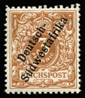Lot 1355:1898 Overprints 3pf bright brown-ochre Mi #5c, Jaschke guarantee handstamp, MUH, Cat €300.