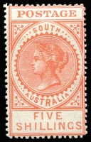 Lot 1005 [1 of 3]:1906-12 Thick 'POSTAGE' Wmk Crown/A Perf 12,12½ 3d to 5/- set SG #298-305, a few low values with minor gum adhesions, fine mint overall, Cat £250+. (8)