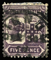 Lot 1289 [1 of 2]:'A' to 'B' Squared-Circle Datestamp Rated 'RRR' comprising Alford Type SC1, Bangor, Baratta, Binnum (on 5d), Booleroo Central Type SC1, Boothby Type SC1, Bowmans & Braemar; variable quality of strikes. (8)