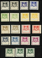 Lot 2153 [2 of 4]:1902-1965 Selection with used 1902 'T.G. RYS.' ½d to 3d, 1918 1/- deep blue, 1919 3d (x2) to 1/-, 9d with handstamped 'NEW NORFOLK' station name, mint 1953 Ovpt on 4d Garrett and Ovpt on 1d & 9d Diesel, Void Panel 1955 (dark under u/v light) 1d to 4/- set & 1960 (white under u/v light) 1d to £1 set, plus 1965 Surcharged Set; condition mostly fine, Elsmore Online Cat $900+. (47)