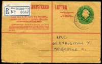 Lot 810 [3 of 11]:1950s-80s 'A' to 'Y' Datestamps predominantly on registered covers or Registration Envelopes from different post offices, provisional labels noted, PPA multiple rarity ratings for cancellations (lightly pencilled on reverse) with Rated 4R x7, Rated 3R x18 and Rated 2R x26, some in mixed condition, generally good commercial quality. Useful basis for expansion. (300+)