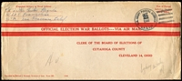 Lot 955 [1 of 5]:Australia - US Forces with 1944 Free of Postage printed Official Election War Ballot airmail envelopes x2; also mostly 6c airmail rate covers or stationery envelopes from Brisbane x3, Canberra, Darwin, Logan Village, Melbourne & Rockhampton, plus three others. (13)