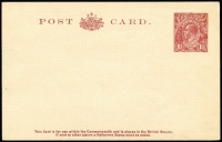 Lot 833:1930-37 1½d Red-Brown KGV Sideface on flimsy cream stock BW #P68(2), fine unused, Cat $400.