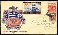 Lot 436 [2 of 4]:Odd Lot with $1 Famous Australians booklet, various stamp packs (f/v $17+) including Captain Cook with imperf M/S; also NZ 1938 Exhibition cover. (13 items)