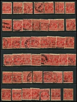 Lot 268 [2 of 3]:2d Red Accumulation in Binder unchecked for varieties, possible postmark interest. (Approx 650)