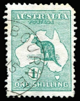 Lot 260:1/- Green with half strike of '[AP]15/[13]