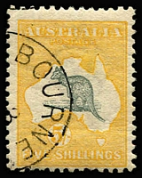 Lot 90:5/- Grey & Yellow with '[DEC]3/[13]