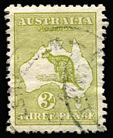 Lot 568 [2 of 2]:Watermark Inverted 3d olive-green Die I (small ink spot at left) & 6d ultramaine Die II BW # 13a & 19a, used, Cat $425. (2)