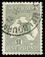 Lot 517:£1 Grey CTO for 1924 UPU distribution BW #53w, well centred, Cat $750. Scarce.