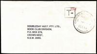 Lot 1359 [1 of 3]:1980s-1990s commercial trio to same addressee in Sydney, comprising rare Government Office Meter cancel, taxed, and Reply paid covers. (3)