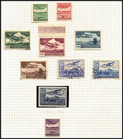 Lot 25 [2 of 4]:Czechoslovakia 1918-1945 Collection mostly used with extensive 1918-20 imperfs & perforated issues, shades including Without Sun 1000h purple mint, 1919 Opts mostly mint, 1930 Airs to 10k x2 used & 20k mint, 1937 Prague M/S MUH, 1938 Child Welfare M/S MUH; also postage dues, newpaper stamps, personal delivery issues, 1925 Bulletin D'Expedion used to Ljubljana, range of postmarks, plus some Bohemia & Moravia. Good opportunity to acquire semi-specialised collection for a modest outlay. (100)