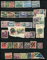 Lot 25 [3 of 3]:Europe - Eastern on Hagners with East Germany 1950s-70s mostly used with pickings; Czechoslovakia 1930-1970s mostly used with 1930 air set used plus duplicates, also mint multiples etc, Bohemia & Moravia 1943 Wagner set in large blocks. (Few 100s)