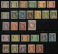 Lot 1459 [2 of 2]:1908 Buiten Bezit Overprints ½c to 2½g set SG #160-77, plus range of inverted overprints to 50c, odd minor tone, generally fine mint, Cat £420. (29)