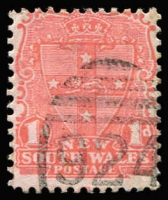Lot 985:924: (A2) Type 4B large-part strike on 1d Shield, [Rated 4R].  Allocated to Park Street-PO 20/5/1878; closed 31/8/1899; Re-allocated to Queen Victoria Markets PO 1/9/1899; renamed Queen Victoria Buildings PO 1/5/1918.