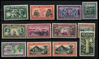 Lot 483 [3 of 5]:1920-40 Mostly Mint Selection with 1920 Victory set (ex 1d), 1932 Dunedin sets x2, 1929-30 Anti-TB duo, 1931-35 Airs, 1934 Crusader, 1934 7d Trans-Tasman x2, 1940 Centennial (most values uniform gum toning), Cat £280 (ex Centennial set). (32)