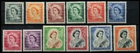 Lot 455 [3 of 3]:1953-59 Queen-On-Horse ½d to 10/- set SG #723-36, fresh MUH, Cat £100. (16)